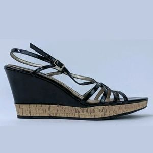 Tommy Hilfiger Wedges Heels Strappy Buckle Career